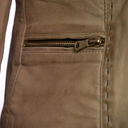 Ladies Lotty sand side zip detail