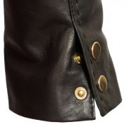 Lotty Black Leather jacket stud fasten cuffs