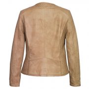 Womens Leather jacket Sand Anna