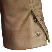 Womens lotty sand leather jacket stud detail