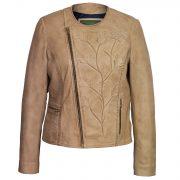 Womens sand leather jacket Lotty sand