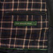 Mens Will black leather blouson inside pocket detail