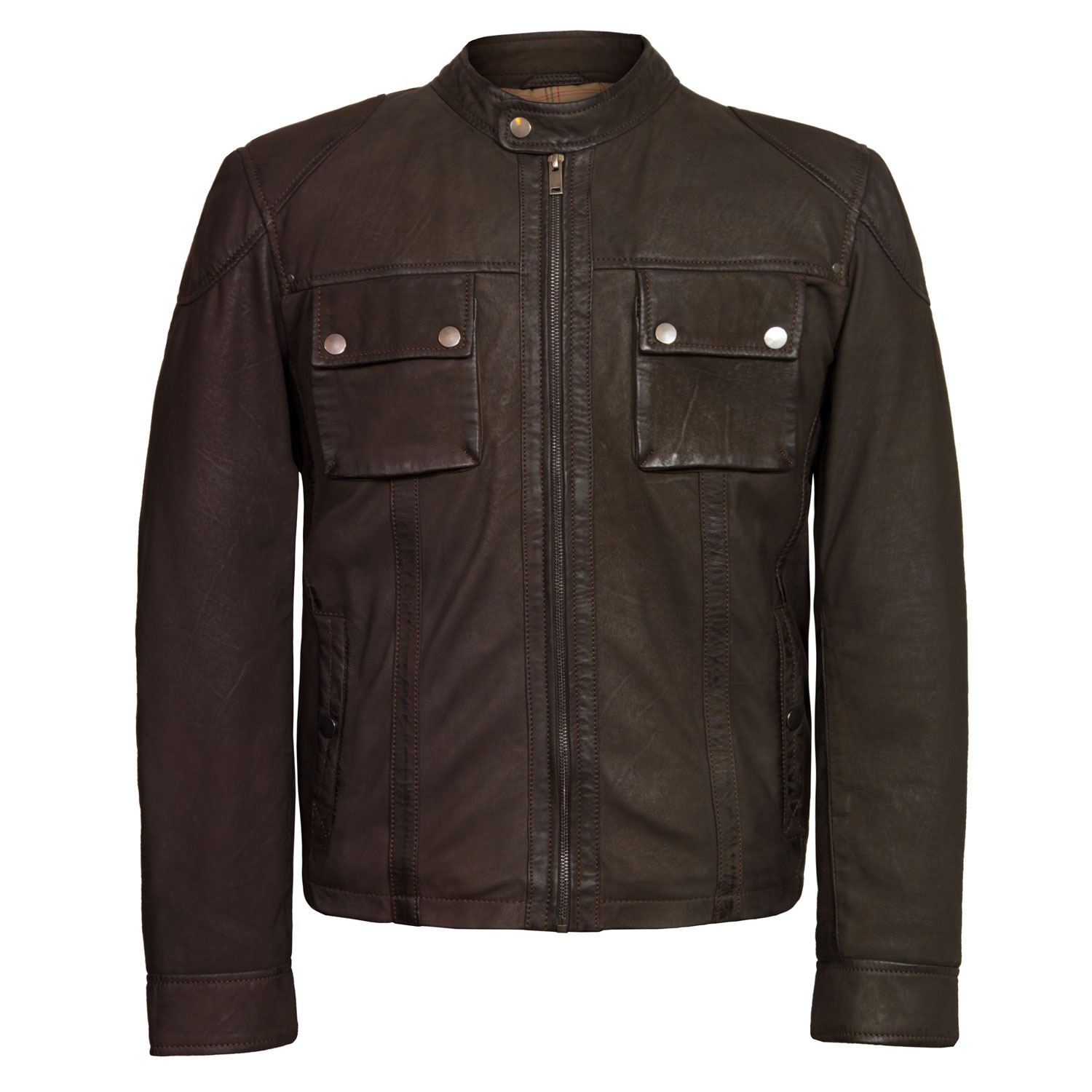 Men's Brown Leather Jacket: Marlon