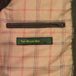 Mens Brown Leather jacket inside pocket Marlon
