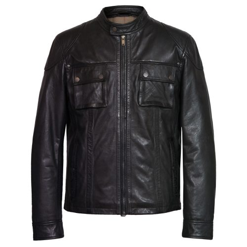 Men's Black Leather Jacket: Marlon