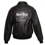 Men's Black Leather Blouson Jacket: Rocky