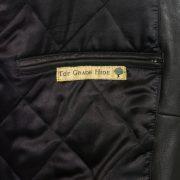 Mens black leather blouson jacket inside pocket Rocky