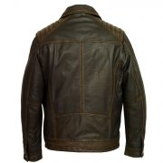 Gents black antique leather jacket Jenson