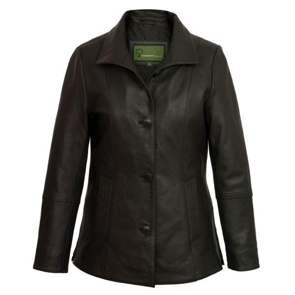 Ladies Black leather jacket angie