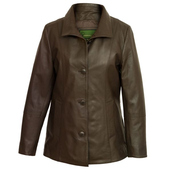 Women's Brown Leather jacket Angie