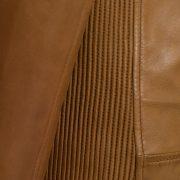 Ladies Elsie Tan leather jacket side detail