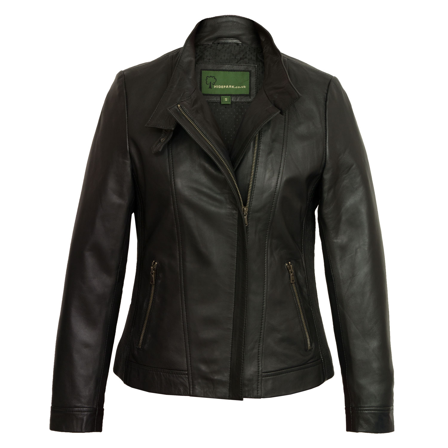 Women's Black Leather Jacket: Elsie
