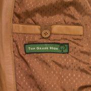 Women Elsie Tan Leather jacket inside pocket detail
