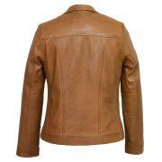 Womens Tan leather jacket Elsie