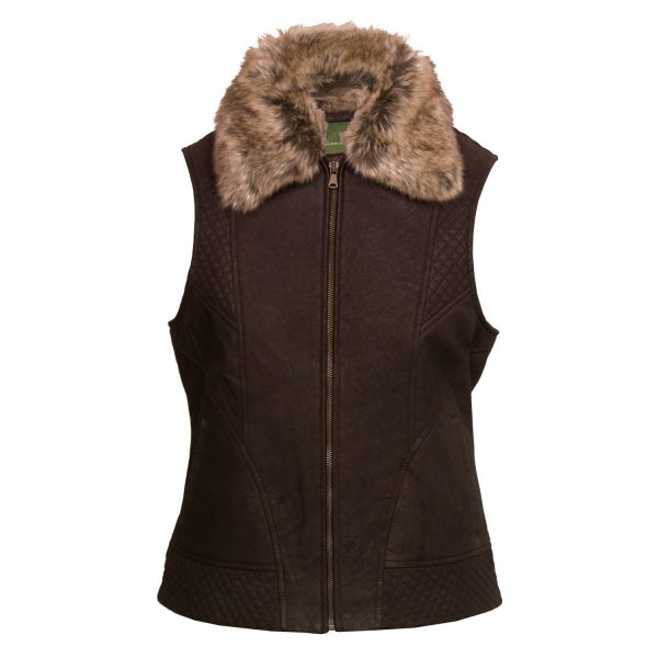 Ladies Lucy 4 brown gilet