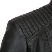 Womens black leather jacket: Britney