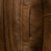 Ladies brown sheepskin flying jacket: Ella