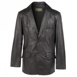 Gents-Leather-2-button-blazer-black-728