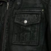 Mens black leather jacket : Jenson