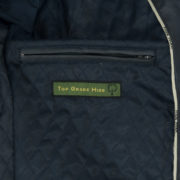 Mens blue leather jacket : Mac