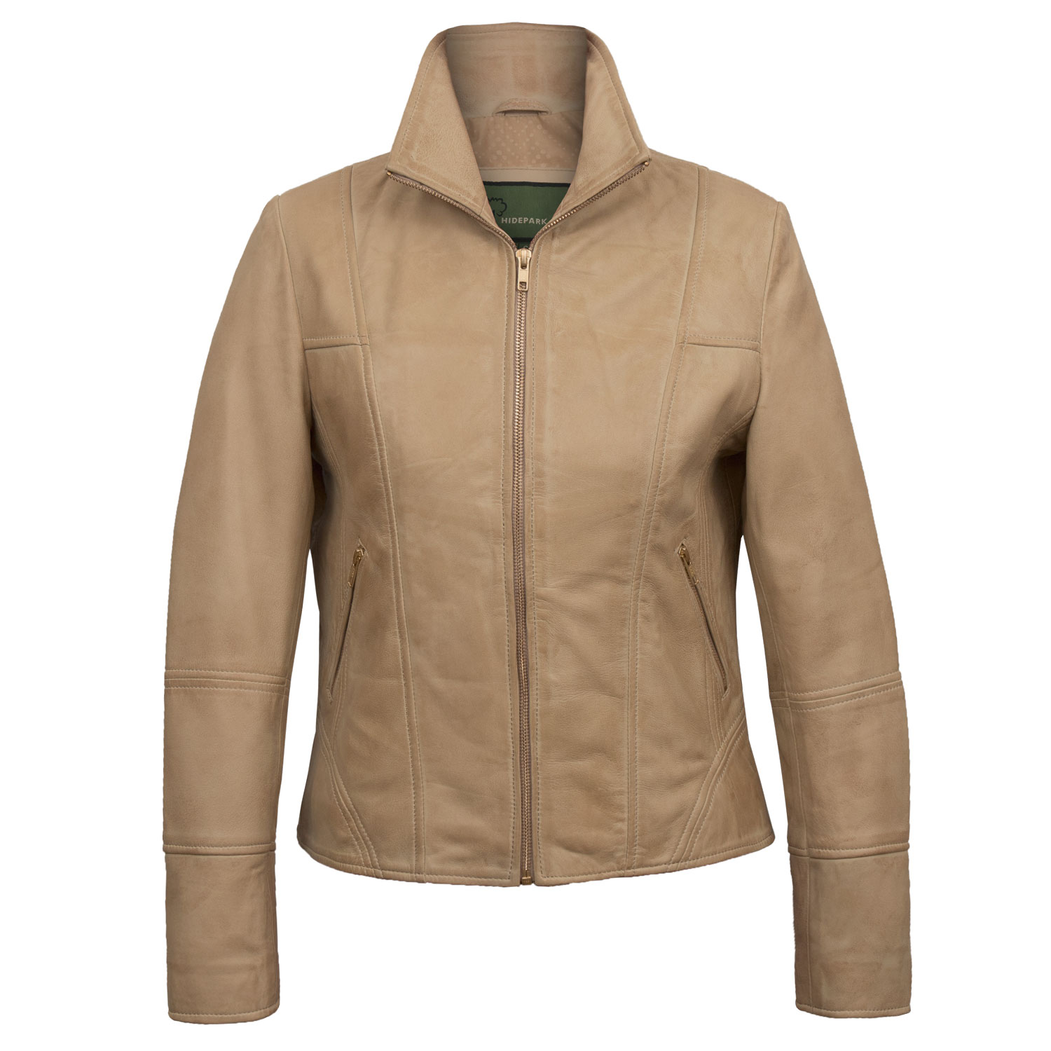 Women's Sand Leather Jacket: Niki