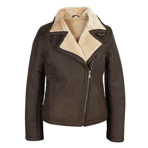 Sheepskin womens Jacket Amy Wild Rust