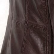 Ladies Burgundy leather jacket : Milly