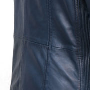 Ladies Blue leather jacket : Milly