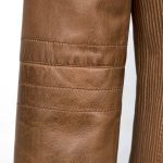 Women's Tan Leather Biker Jacket: Milly