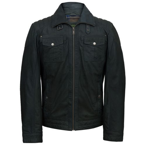 Men's Blue Leather Jacket: Jenson
