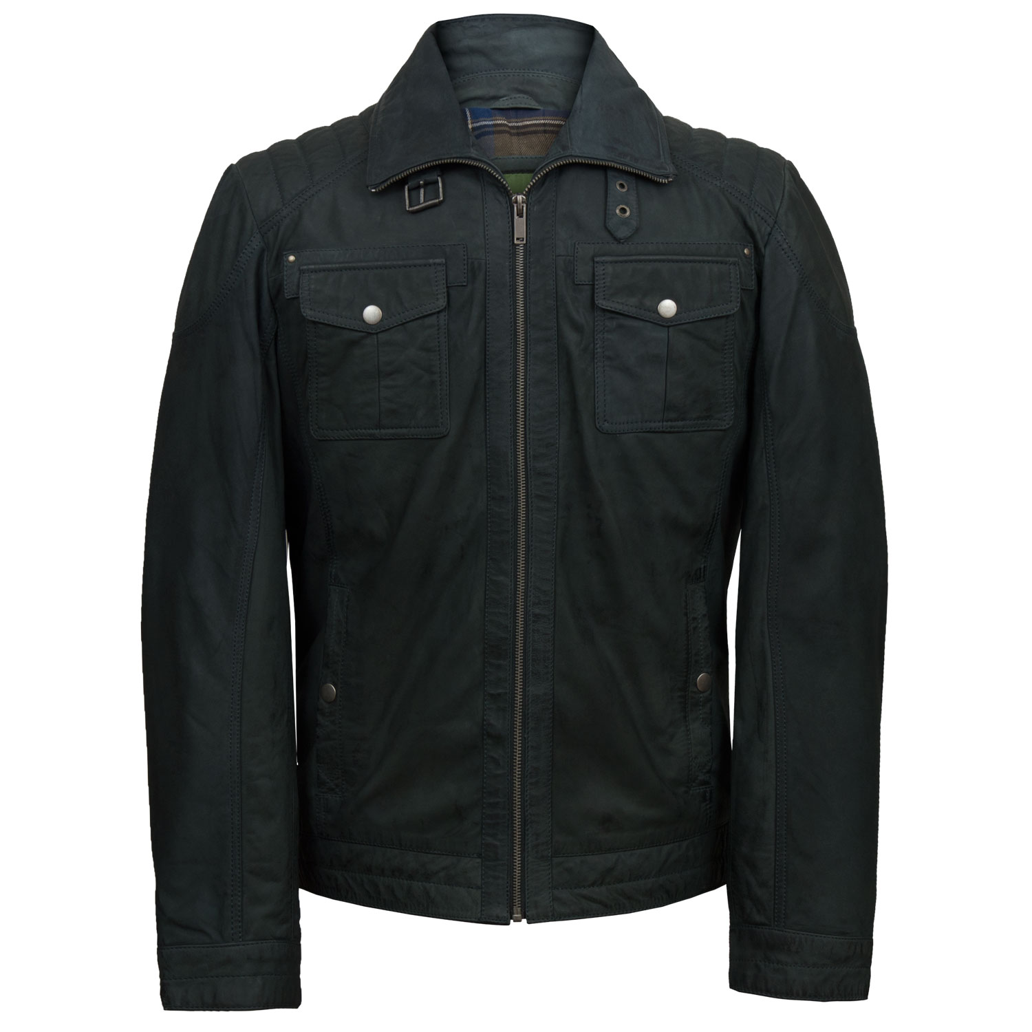 Mens Leather Zip Jackets