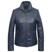 Ladies Blue leather jacket