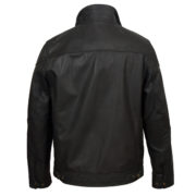 Mens black leather jacket Matt