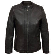 Ladies Black leather jacket Trudy