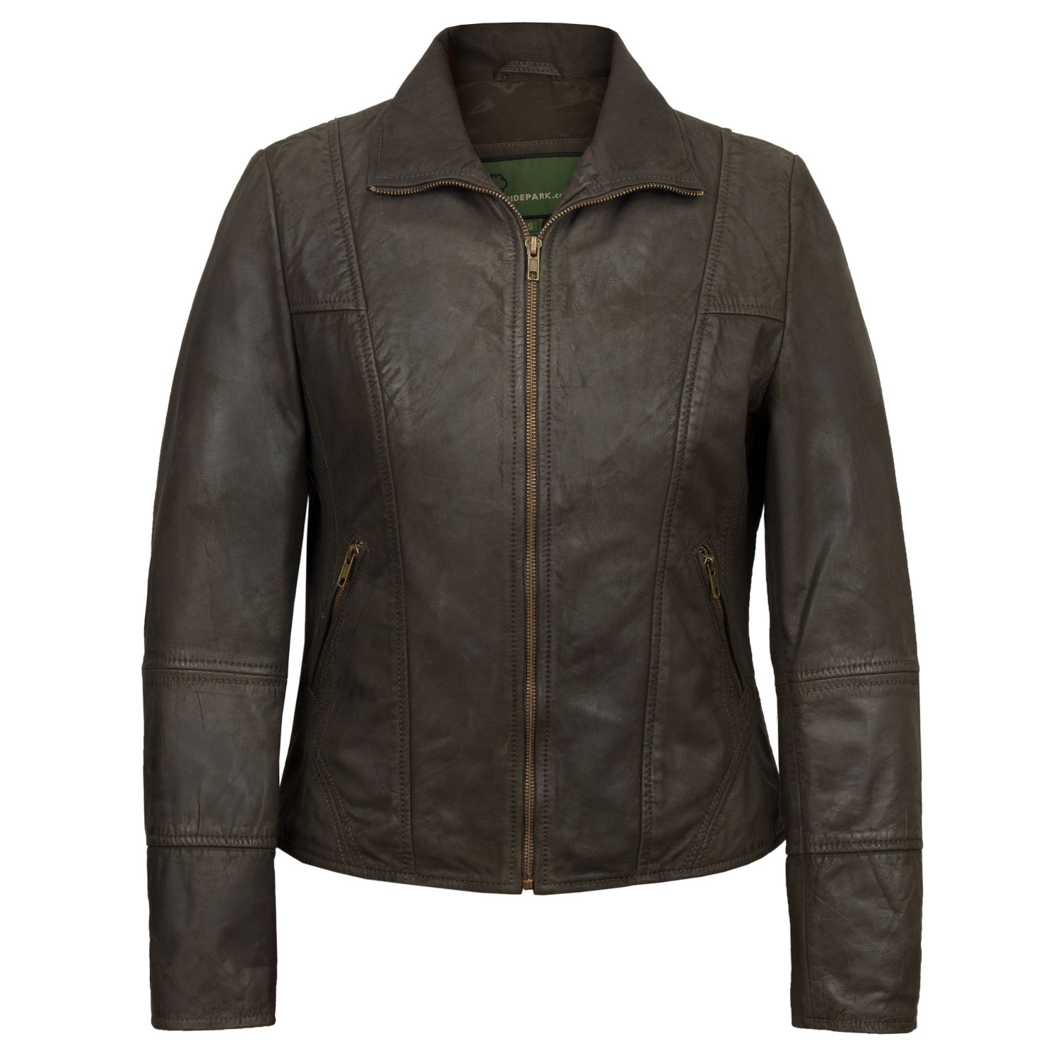 Ladies Niki Brown Leather jacket