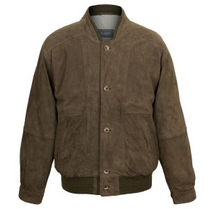 Mens branded leather jacket Brown
