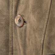 Mens branded leather jacket button detail
