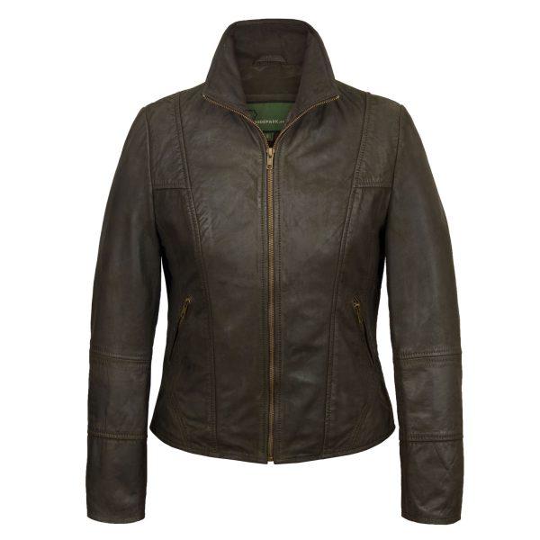 Ladies Brown leather jacket Niki Brown