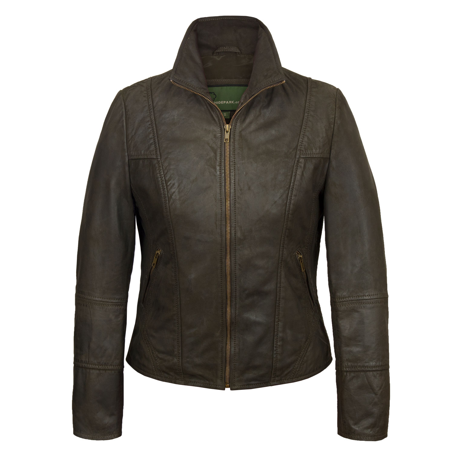 Ladies Brown leather jacket Niki Brown
