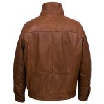 Mens tan leather jacket Jake