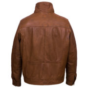 Mens tan leather jacket Jake