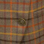 Womens Pink tweed jacket front button detail Oban