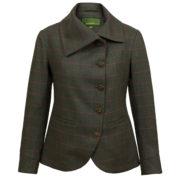 Womens green tweed jacket Oban