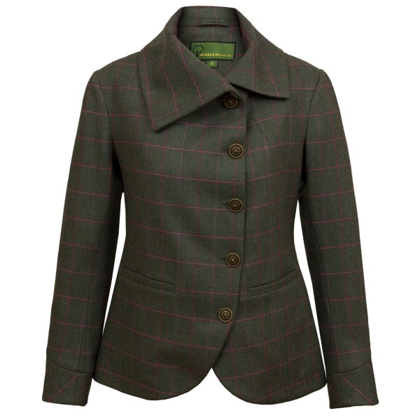 Womens green tweed jacket Oban