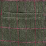 Womens green tweed jacket pocket detail Oban