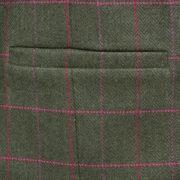 Womens green tweed jacket pocket detail Oban
