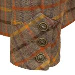 Womens pink tweed jacket cuff detail Oban