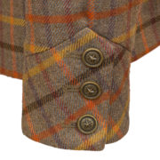 Womens pink tweed jacket cuff detail Oban