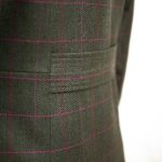 Womens green tweed jacket half belt detail Oban