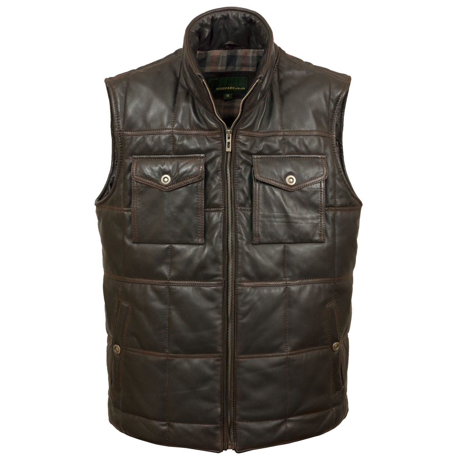 Mens Black Antique Leather Bodywarmer Monty